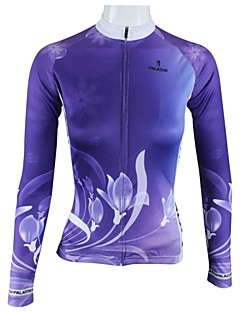 ILPALADINO Women s Long Sleeve Cycling Jersey - Purple Floral   Botanical Bike  Jersey Top Breathable Quick Dry Sports 100% Polyester Mountain Bike MTB Road  ... 271e704b7