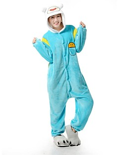 billige Kigurumi-Kigurumi-pysjamas Anime Onesie-pysjamas Kostume Flanell Fleece Cosplay Til Voksne Pysjamas med dyremotiv Tegnefilm Halloween Festival /