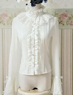 Μπλούζα/Πουκάμισο Κλασσική/Παραδοσιακή Lolita Πριγκίπισσα Cosplay Φορέματα Λολίτα Μονόχρωμο Στάμπα Μακρυμάνικο Lolita Μπλούζα Για