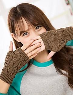 kvinners mote kutte ut blader utskrift strikke varme hansker