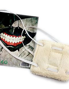 billige Anime cosplay-Maske Inspirert av Tokyo Ghoul Cosplay Anime Cosplay-tilbehør Maske Polar Fleece Herre ny Halloween-kostymer