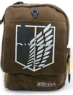 Laukku Innoittamana Attack on Titan Cosplay Anime Cosplay-Tarvikkeet Laukku / Backpack Ruskea Kanvaasi / Nylon Uros