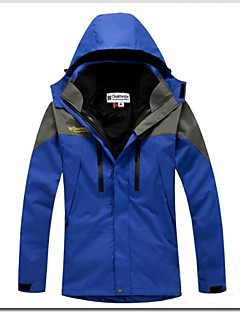 Heren Ski-jack Buiten Winter waterdicht Houd Warm Winddicht Afneembare capuchon Uitneembare Fleece Windjacks 3-in-1 jacks Winterjack