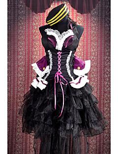 """billige Anime cosplay-Inspirert av Programmene Frontier Sheryl Nome Anime  """"Cosplay-kostymer"""" Cosplay Klær Lapper Ermeløs Kjole / Sløyfe / Hatt Til Dame"""