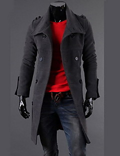 Fanzhuo Men'S Double Breasted Wool Fashion Coat 1411A/A160