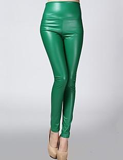 billiga Dampälsar och läder-Dam Skinny Smal Leggings Tights Byxor - Enfärgad Låg midja