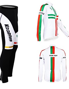 cheap Customized Cycling Clothing-Kooplus Men's Women's Unisex Long Sleeves Cycling Jersey with Tights Bike Jersey Clothing Suits Text Color 6# Text Color 7# Text Color 8#