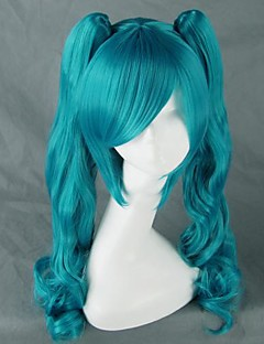 cheap Videogame Cosplay Wigs-Cosplay Wigs Vocaloid Hatsune Miku Anime/ Video Games Cosplay Wigs 75 CM Heat Resistant Fiber Women's