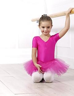 tanie Stroje baletowe-Balet Suknie / Sukienki i spódnice / Tutus Damskie Spandeks / Tiul Z krótkim rękawem / Wydajność