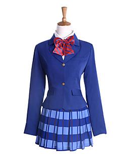 """billige Anime Kostymer-Inspirert av Elsker live Honoka Kōsaka Anime  """"Cosplay-kostymer"""" Cosplay Klær / Kjoler Langermet Frakk / Trøye / Skjørte Til Dame"""
