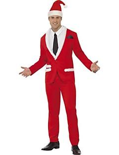 billige julen Kostymer-Nisse drakter Cosplay Kostumer Herre Jul Festival / høytid Halloween-kostymer