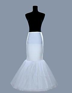 billiga Brudklänningsunderkjol-Underklänningar Sjöjungfru Underkjol Golvlång 2 Lycra Organza Vit
