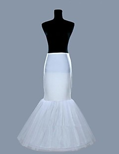 baratos Anáguas para Vestidos de Noiva-Anáguas Sereia e Trompete Comprido 2 Lycra Organza Branco