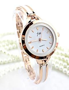 Bayanların Elbise Saat Moda Saat Bilezik Saat Quartz imitasyon Pırlanta Alaşım Bant Halhal Gümüş Altın Rengi Gümüş Altın