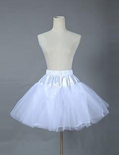 billiga Lolitaklänningar-Söt Lolita Lolita Chiffong Organza Dam Kjolar Underkjol Cosplay Kort längd Kostymer