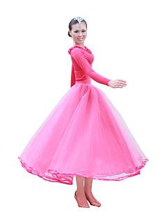 tanie Stroje balowe-Taniec balowy Stroje Damskie Szkolenie / Wydajność Satyna / Tiul Długi rękaw / Sala balowa