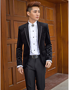 Tuxedos Slim Fit Slim Notch Single Breasted One-button Polyester Solid