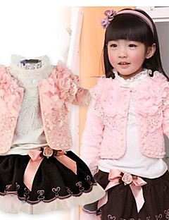 billige Babytøj-Pigens Tøjsæt Bomuldsblanding Blomstret Forår / Efterår Lyserød / Rød / Gul