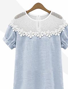 billige Lagersalg-Kortermet T-skjorte Sommer Fritid Daglig