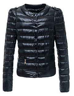 baibian dámské módy ležérní kulatý límec kabát