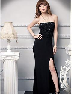 Plesový šaty miláček kotník délka hedvábí družička šaty s křídlem / stuhou