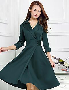 billige Lagersalg-Dame Chic & Moderne Kjole - Ensfarget, Moderne Stil