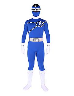 billige Zentai-Zentai Drakter Ninja Zentai Cosplay-kostymer Trykt mønster Trikot / Heldraktskostymer Zentai Elastan Herre Dame Halloween / Høy Elastisitet