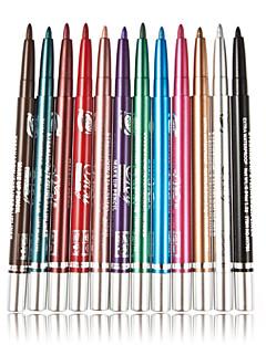 12 Pcs/lot Colorful Women Lady Eyeshadow Long-lasting Eyeliner Make Up  Beauty Cosmetic Tools