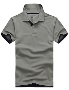 lesmart menns sommer bomull kort erme merkevare polo menn skjorte