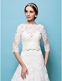 cheap Wedding Wraps-Lace Wedding Party Evening Wedding  Wraps Capelets