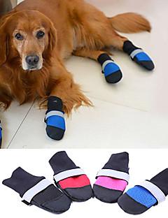 billiga Hundkläder-Hund Skor och stövlar Håller värmen Enfärgad Svart Ros Röd Blå För husdjur