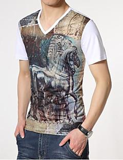 Print Muška Majica s rukavima Ležerne prilike,Pamuk Kratkih rukava-Više boja