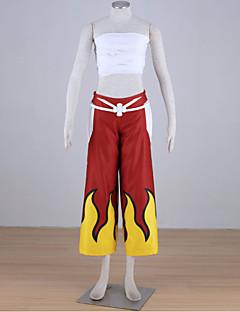 """Inspirert av Eventyr Elza Scarlet Anime  """"Cosplay-kostymer"""" Cosplay Klær Lapper Ermeløs Bandasje Topp Bukser Til Kvinnelig"""