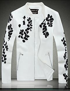 billige Herremote og klær-Moderne Stil Jakke-Blad Chic & Moderne Herre