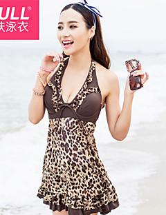 Fashion sexy beautiful woman Leopard Dress swimsuit
