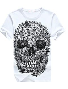 2015 Fashion Cool E-Baihui Skull Hip Hop Men T-shirt Casual O-Neck Fitness Skate Swag