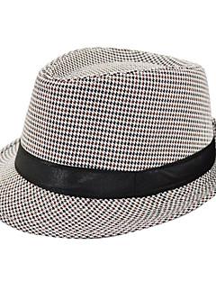 billige Trendy hatter-Fedora Unisex Alle årstider Vintage Polyester
