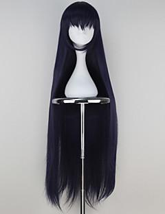 billiga Anime/Cosplay-peruker-Cosplay Peruker Cosplay Cosplay Svart Animé Cosplay-peruker 42 tum Värmebeständigt Fiber Dam halloween Peruker