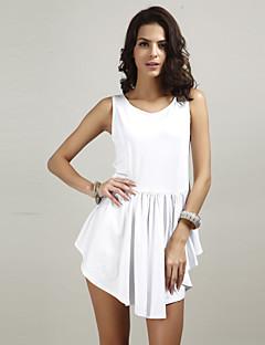 Χαμηλού Κόστους Γυναικεία Φορέματα-Γυναικεία Κλαμπ Κλασσικό & Διαχρονικό Μετάξι Skater Φόρεμα - Μονόχρωμο, Αγνό Χρώμα Πάνω από το Γόνατο Ψηλή Μέση