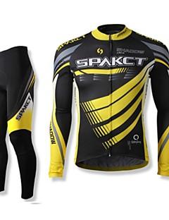 SPAKCT בגדי ריקוד גברים שרוול ארוך אופניים מדים בסטים ייבוש מהיר לביש נושם 100% פוליאסטר אביב סתיו רכיבה על אופניים/אופנייים