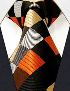 K4  Men Ties Multicolor Checked 100% Silk Business Fashion For Men