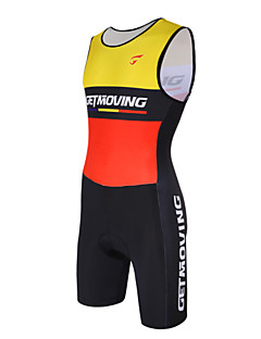 cheap Triathlon Clothing-GETMOVING Tri Suit Men's Women's Sleeveless Bike Compression Clothing Bike Wear Anatomic Design Breathable Compression Lightweight