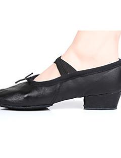 baratos -Mulheres Sapatilhas de Balé Couro / Courino Salto Salto Robusto Personalizável Sapatos de Dança Preto / Vermelho / Interior