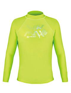 男性用 ハイキング Tシャツ アウトドア 防水 保温 速乾性 抗紫外線 高通気性 ビデオ圧縮 軽量素材 トップス のために キャンピング&ハイキング エクササイズ&フィットネス レーシング ビーチ サイクリング / バイク クロスカントリー