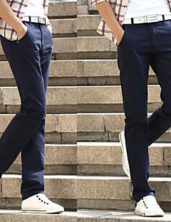 billige Herrebukser og -shorts-Herre Bomull Tynn Dressbukser Chinos Bukser Ensfarget