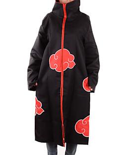 """billige Anime Kostymer-Inspirert av Naruto Akatsuki Anime  """"Cosplay-kostymer"""" Cosplay Topper / Underdele Trykt mønster Langermet Kappe Til Mann"""