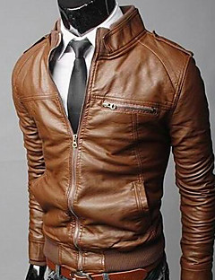 Men's Stand Coats & Jackets , Acrylic/Leather Long Sleeve Vintage/Casual/Work Winter/Fall CWFM