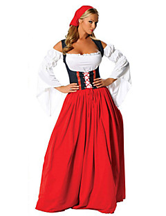 cheap -Maid Costume Bavarian Oktoberfest Cosplay Costume Party Costume Women's Christmas Halloween Carnival Oktoberfest New Year Festival /
