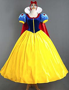 Prințesă DinBasme Costume Cosplay Cosplay de Film Galben Rochie Accesoriu de Păr Manta Mai multe accesorii Halloween An Nou Catifea