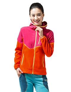 女性用 ハイキング フリースジャケット 保温 防風 フリースライナーつき 絶縁 フロントファスナー 防塵 静電気防止 高通気性 軽量素材 アウトドア パーカー 冬フリースジャケット / フリース トップス シングルファスナー フルオープンファスナー のために